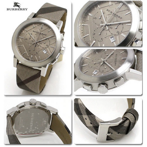 Swiss Made Burberry The City Chronograph With Smoked Check Strap BU9358