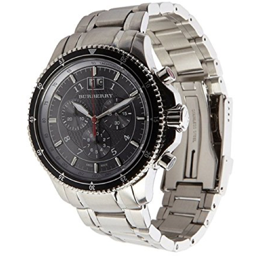 Swiss Made Burberry Endurance Collection Black Chronograph Men's Watch BU7602