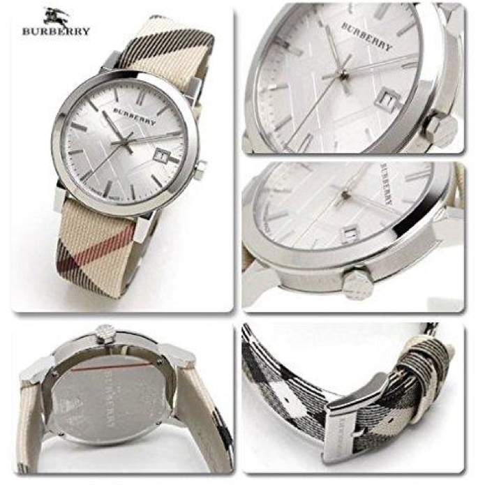 Swiss Made Burberry Heritage Collection Swiss Nova Check Fabric Strap Women's Watch BU9022