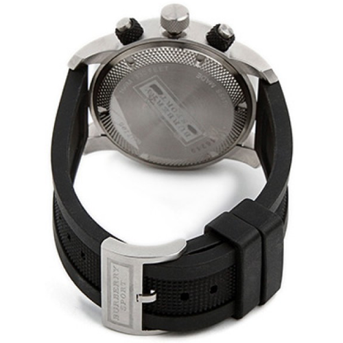 Swiss Made Burberry Endurance Collection Chronograph Black Dial Rubber Strap Men's Watch BU7700