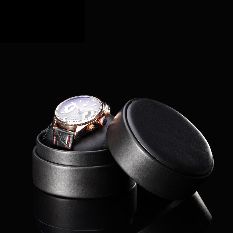 Black Leather Luxury Watch Box