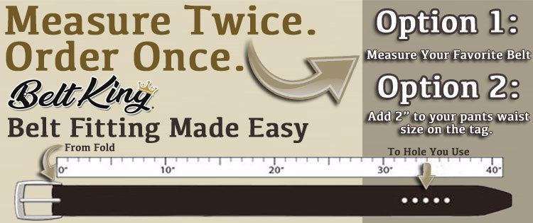 Belt King Sizing Directions