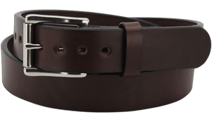 "The King Edward - Brown Smooth Edge Bullhide Gun Belt - 15 oz - 1.5"" Wide (SKU K100136)"