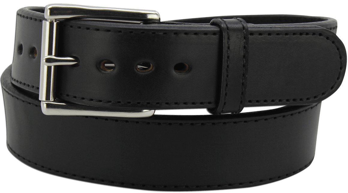 "The King David - Black Stitched Edge Bullhide Gun Belt - 15 oz - 1.75"" Wide (SKU K100718)"