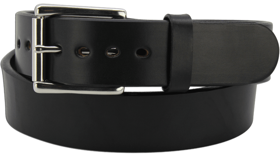 "The King Philip - Black Smooth Edge Bullhide Gun Belt - 15 oz - 1.75"" Wide (SKU K100818)"