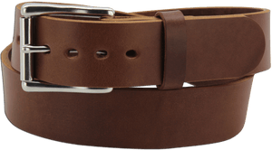 "The King Philip - Medium Brown Smooth Edge Bullhide Gun Belt - 15 oz - 1.75"" Wide (SKU K100834)"
