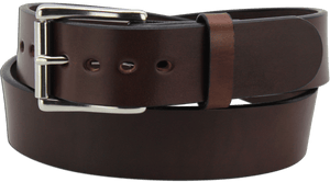 "The King Philip - Brown Smooth Edge Bullhide Gun Belt - 15 oz - 1.75"" Wide (SKU K100836)"
