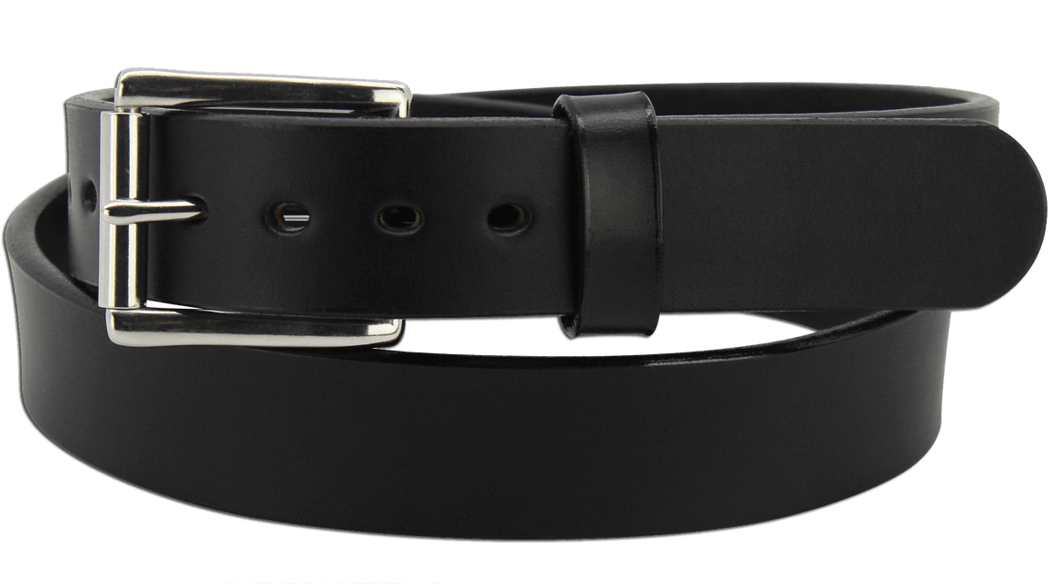 "The King Henry - Black Smooth Edge Bullhide Gun Belt - 15 oz - 1.25"" Wide (SKU K104118)"