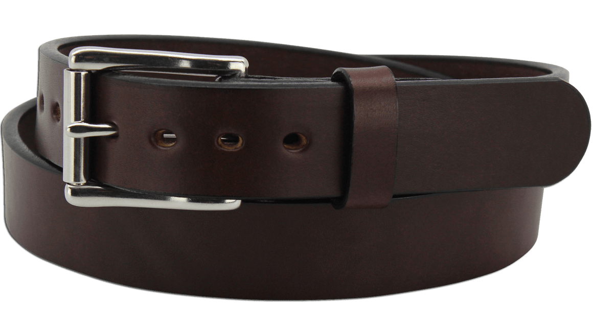 "The King Henry - Brown Smooth Edge Bullhide Gun Belt - 15 oz - 1.25"" Wide (SKU K104136)"