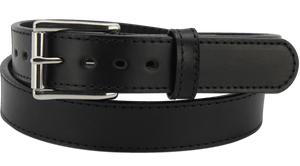 "The King Richard - Black Stitched Edge Bullhide Gun Belt - 15 oz - 1.25"" Wide (SKU K104218)"