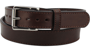 "The King Richard - Brown Stitched Edge Bullhide Gun Belt - 15 oz - 1.25"" Wide (SKU K104236)"