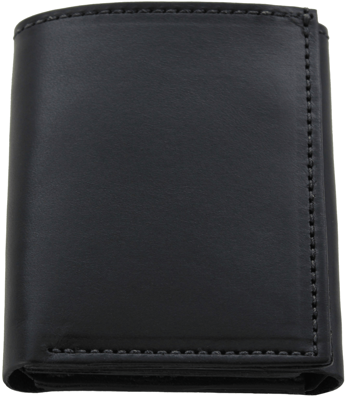 Black Premium Bridle Leather USA Made Trifold Wallet With ID Window