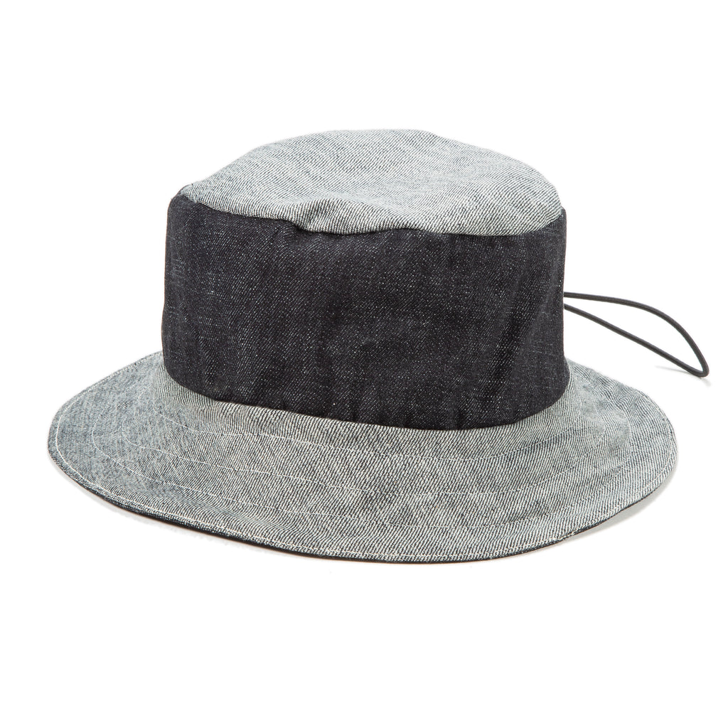 Reversible Bucket Hat in Indigo/2-Tone