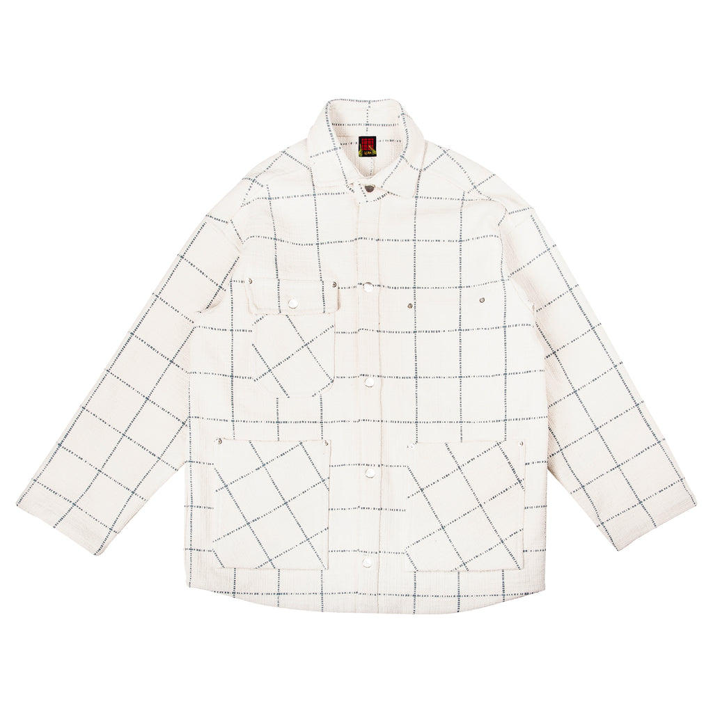 Warden Chore Coat in Natural Grid