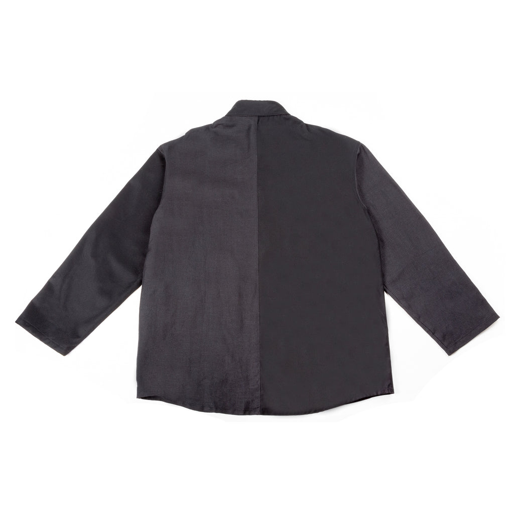 Warden Chore Coat in 2-Tone Black