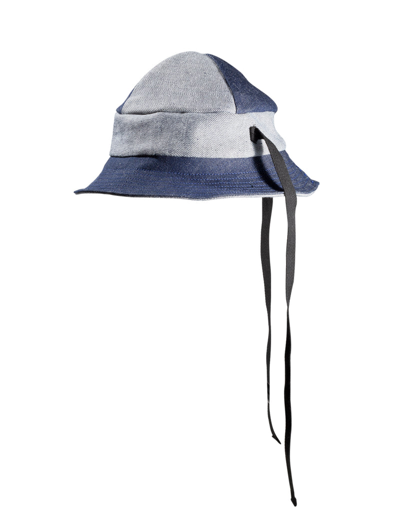 4-Panel Bucket Hat 2-Tone Denim