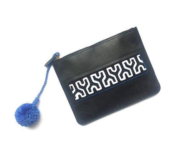 Colombian Leather Clutch - Black