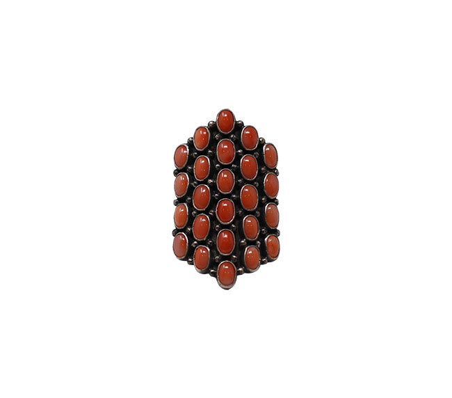 Coral Ring - Deep Pink Pyramid