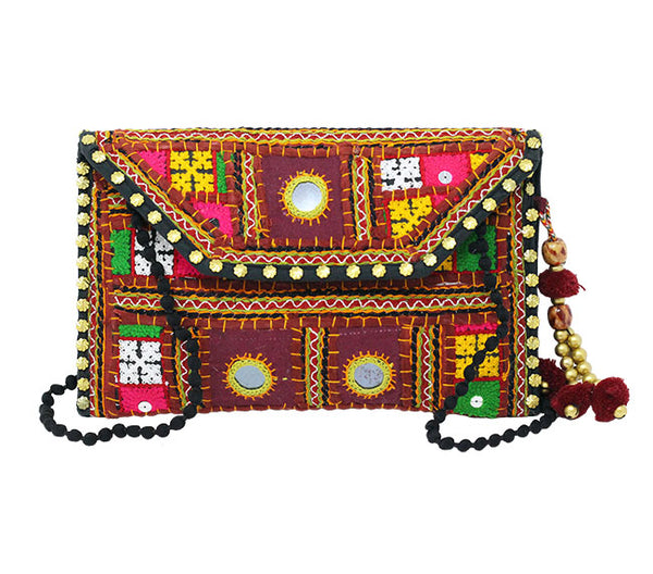 Recycled Sari Clutch