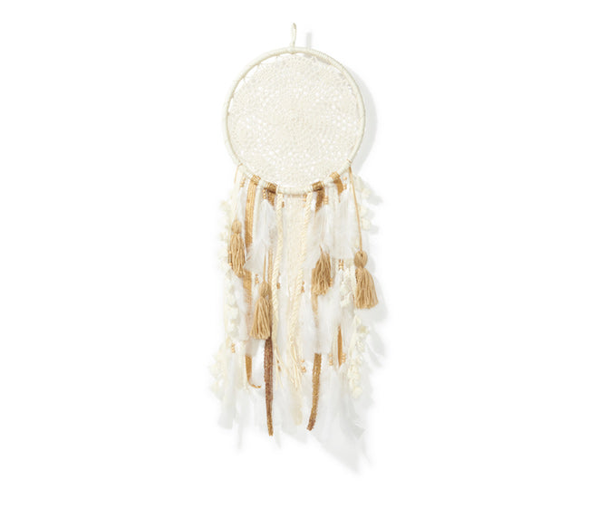 Medium Dream Catcher - Natural & Gold
