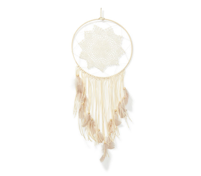 Large Dream Catcher - Natural Tassel