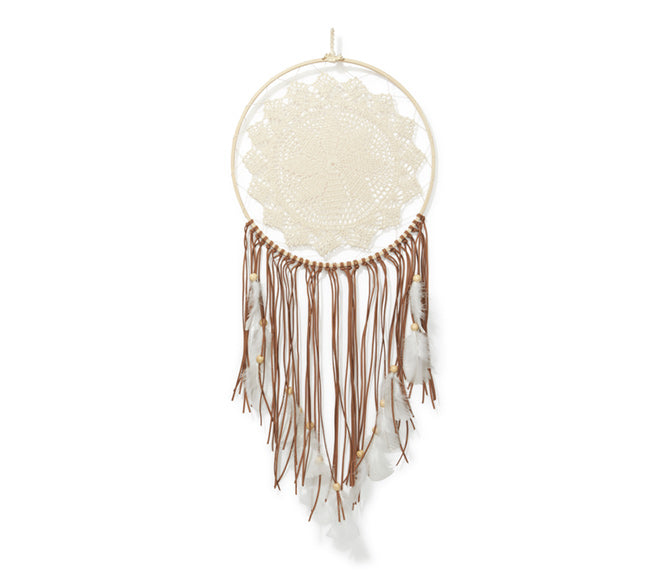 Large Dream Catcher - Brown Tassel