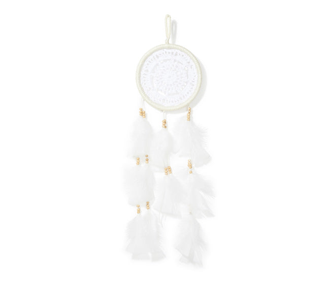 Mini Dream Catcher - White