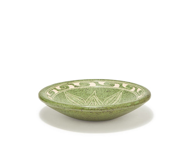"Guaitil 6.5"" Bowl - Green Flower"