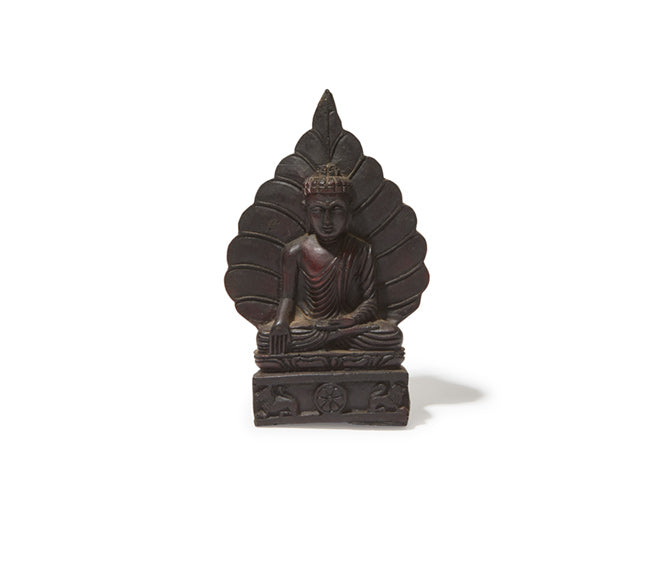 Hand Carved Wood Buddha on Lotus