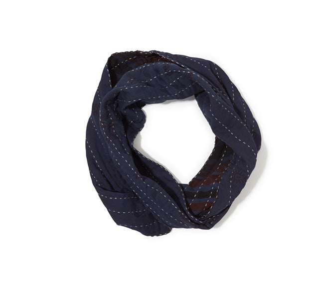 Infinity Scarf - Navy with Accents