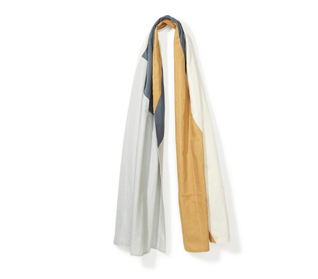 Yellow & Gray Patch Scarf