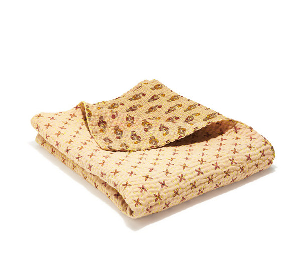 Small Kantha Quilt - Chestnut Lilly