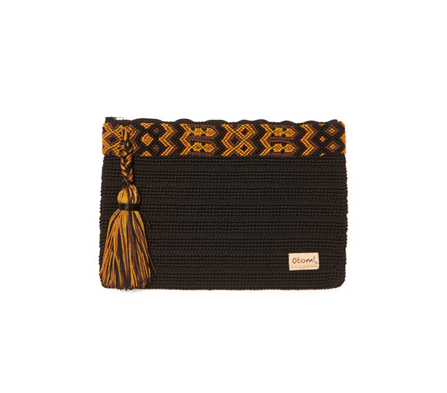 Chiapas Clutch Handbag - Black