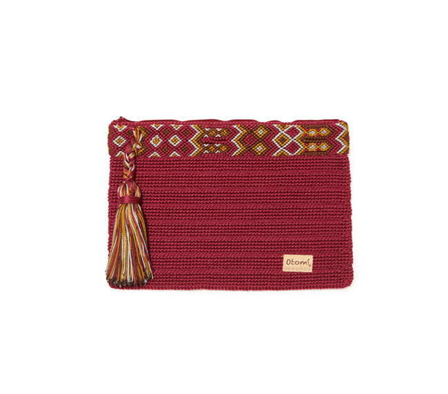 Chiapas Clutch Handbag - Raspberry