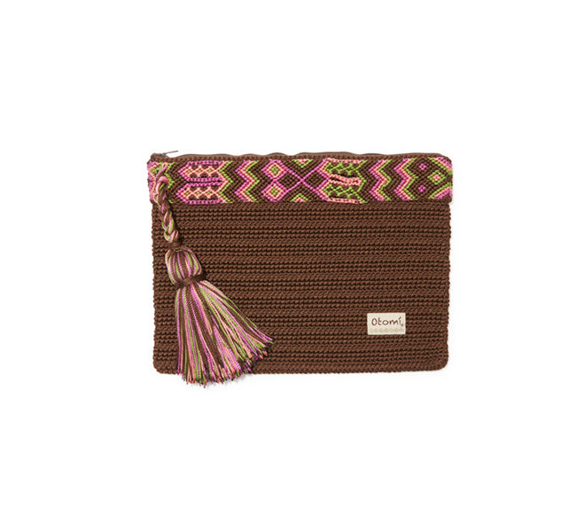 Chiapas Clutch Handbag - Brown