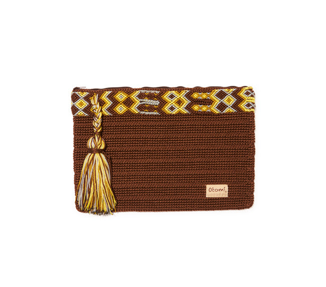 Chiapas Clutch Handbag - Dark Brown