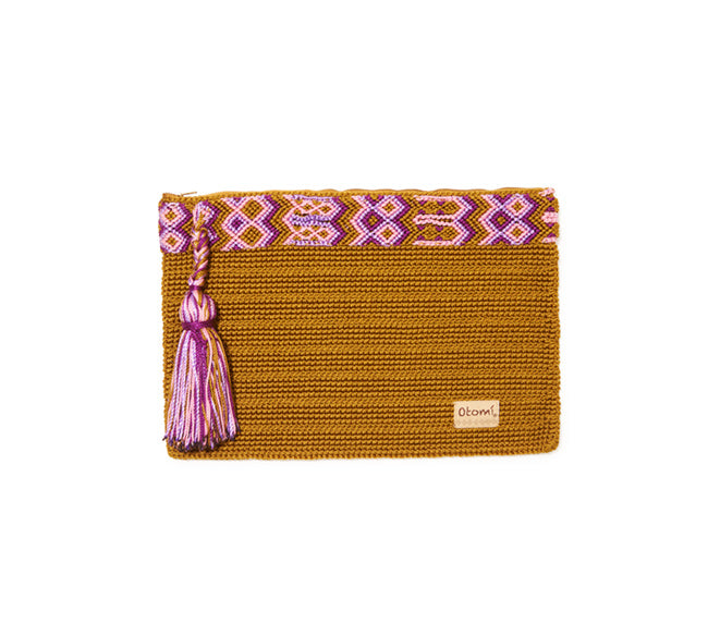 Chiapas Clutch Handbag - Gold