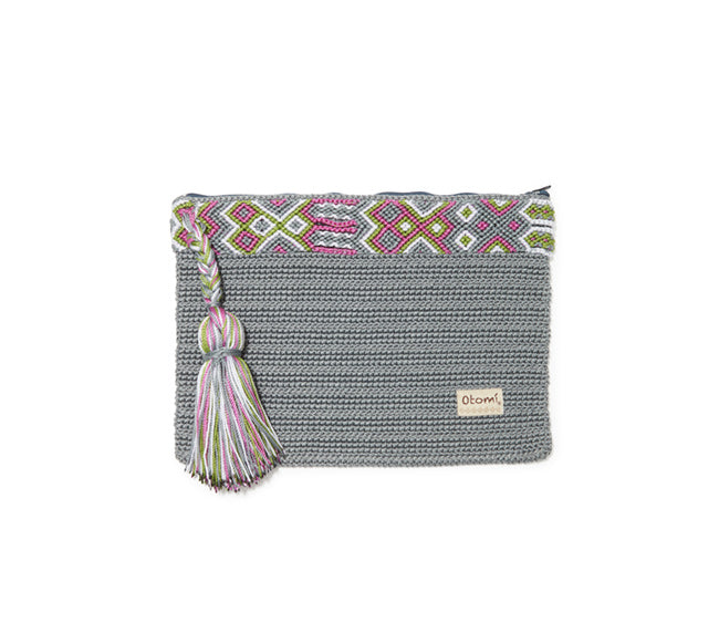 Chiapas Clutch Handbag - Gray