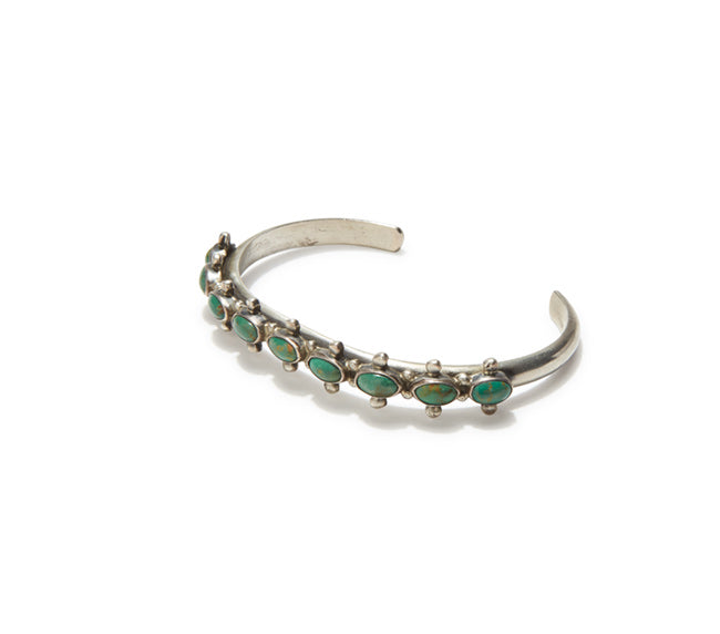 Turquoise Cuff - Horizontal Oval