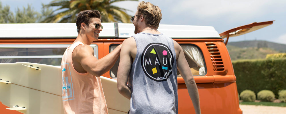 MAUI AND SONS TANKS SHORTS TEES ONLINE COOKIE MENS SWIM
