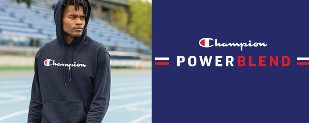 champion logo with hoodie