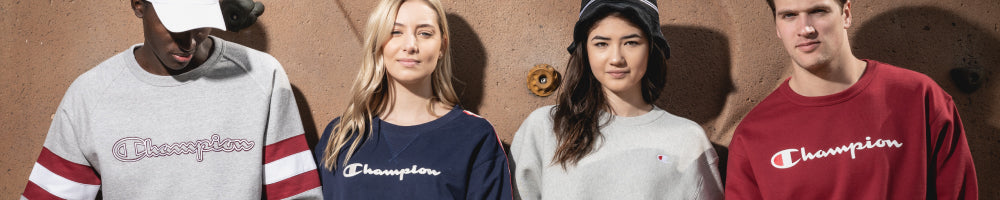 Shop Champion hoodies and sweatshirts, including Reverse Weave and Powerblend styles for men, women, and kids, online at Below The Belt