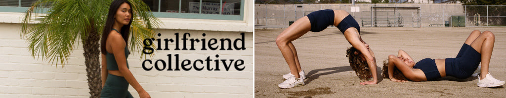 Girfriend Collective's collection of eco-conscious and inclusive athletic wear and clothing. Fee shipping available at Below The Belt