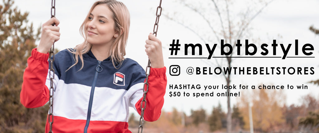 use the hashtage #mybtbstyle for a chance to win $50 to spend online