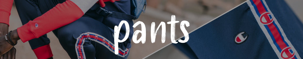 shop pants online at Below The Belt, including trackpants, sweatpants, chinos, and more