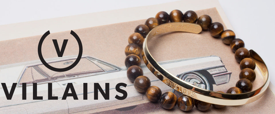 shop mens bracelets beaded leather metal
