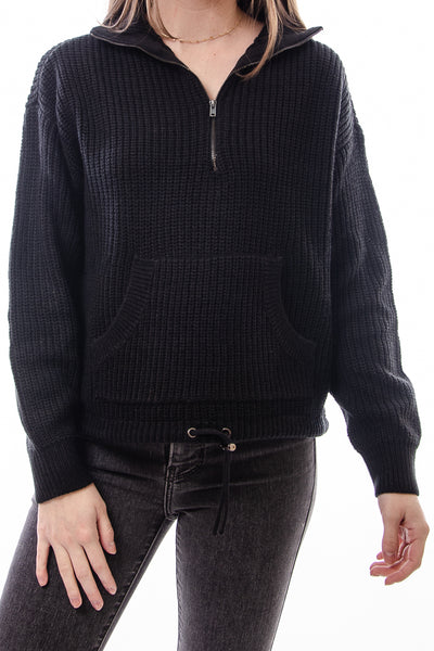 Eastly Zip Sweater - BLK