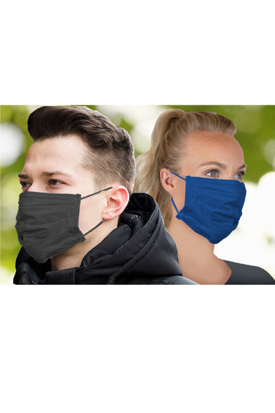 2 Pack Adult Resuable Pleated Face Mask - BLN