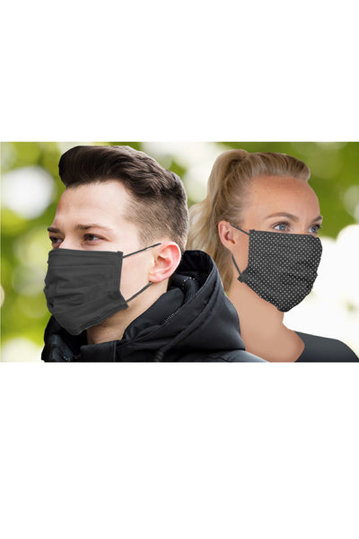 2 Pack Adult Reusable Pleated Pattern Face Mask - NDOTS