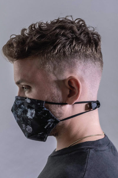 3 Layer Reusable Unisex Face Mask Kit - BLK